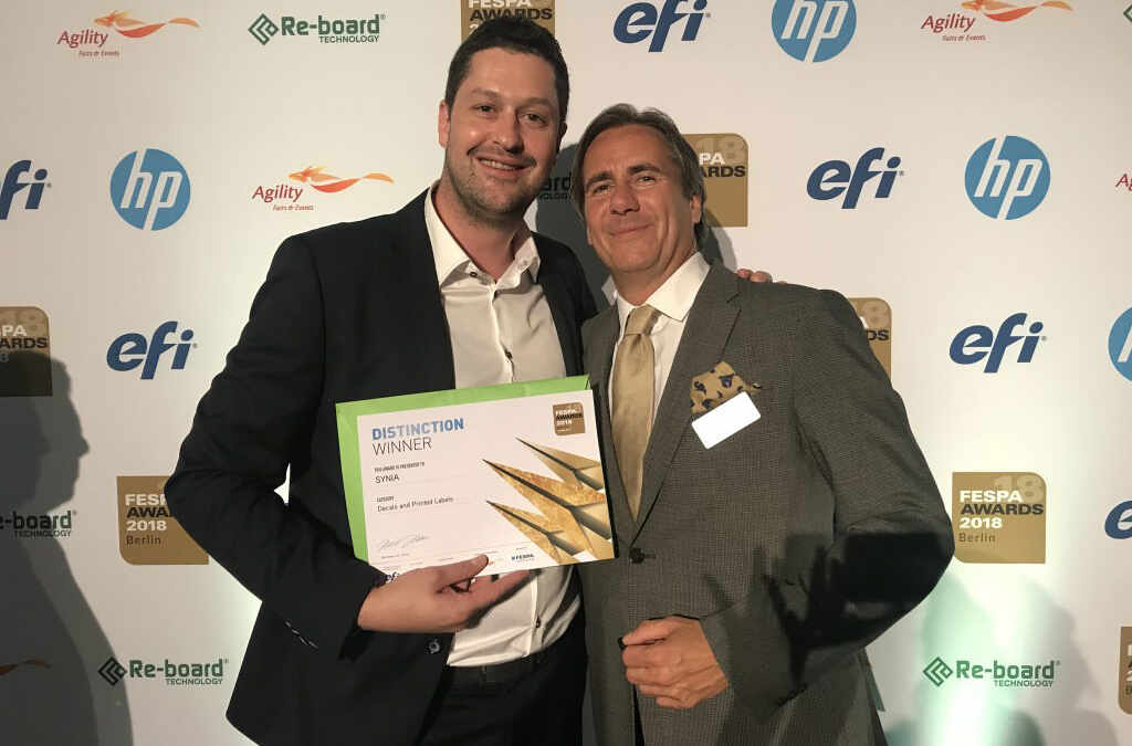 Sÿnia distinction FESPA awards