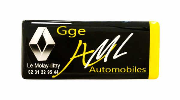 etiquette adhesive 3D doming automobile