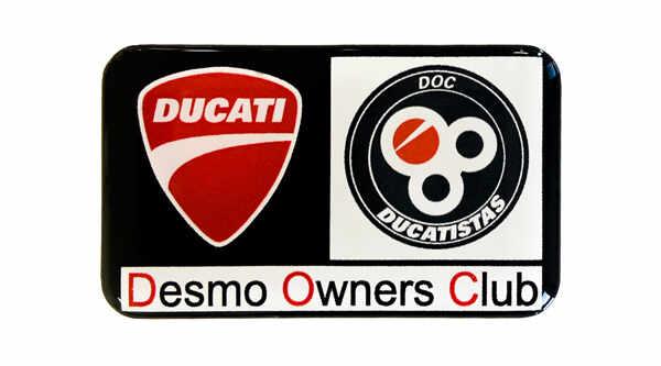 etiquette adhesive 3D doming automobile ducati