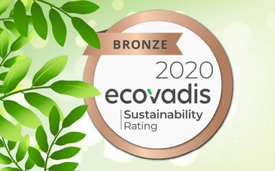 Certification bronze d'Ecovadis RSE pour l'imprimerie Sÿnia